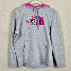 The North Face Grey / Pink Multi Logo Sweatshirt
